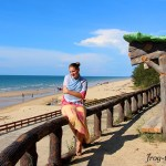 Марина Саморосенко на пляжах Брунея