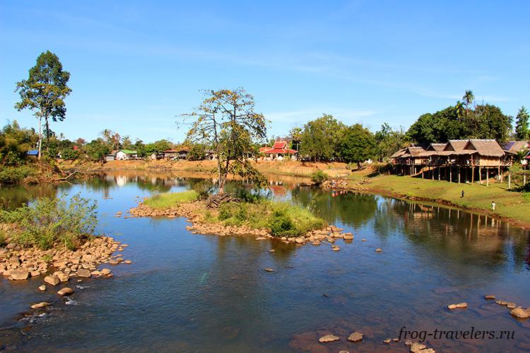 Водопад Tad Lo Waterfall Лаос