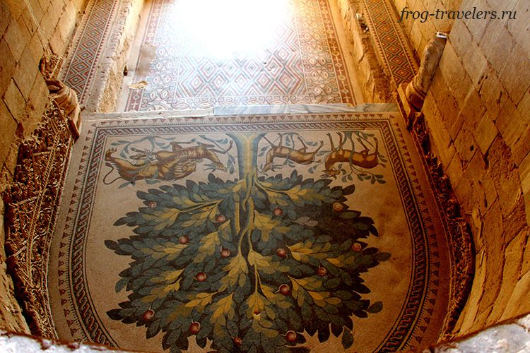 "Мозаика ""Дерево жизни"" в Иерихоне"