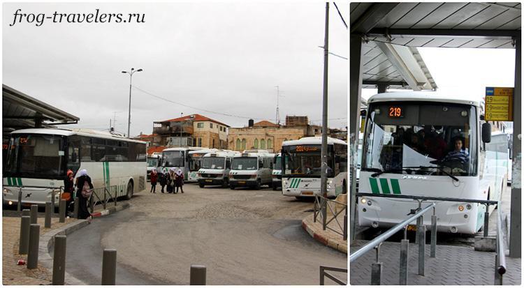 Автостанция в арабском квартале Иерусалима