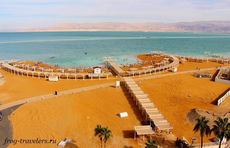 Пляж отеля Ход Мертвое море Израиль