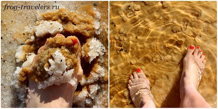 Заход в Мертвое море на пляжах в Эйн-Бокек