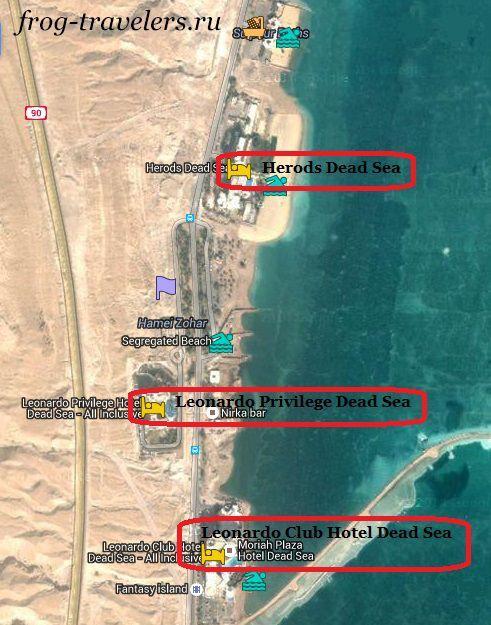 Отели Хамей-Зоар на карте