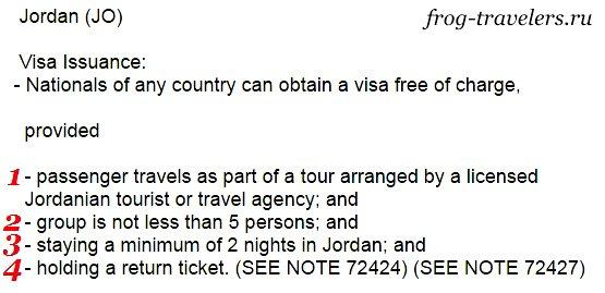 Без визы в Иорданию