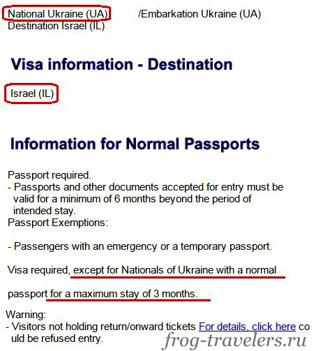 Нужна ли виза в Израиль украинцам