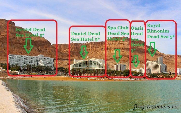 Карта гостиниц Мертвого моря