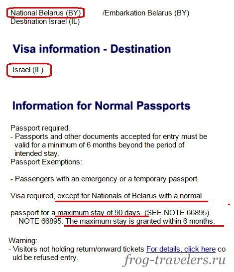 Нужна ли виза в Израиль белорусам