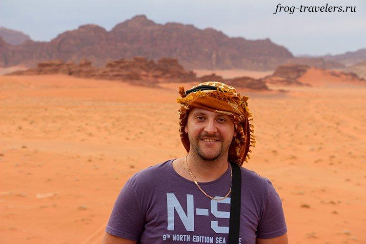 Константин Саморосенко в пустыне