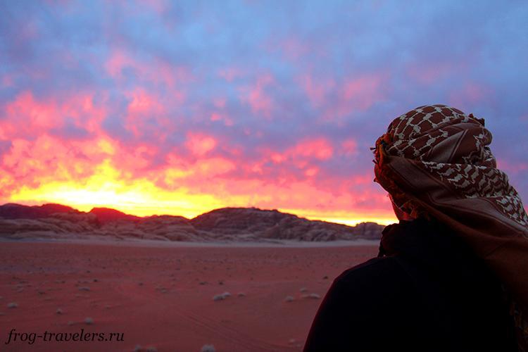 Закат в Вади Рам