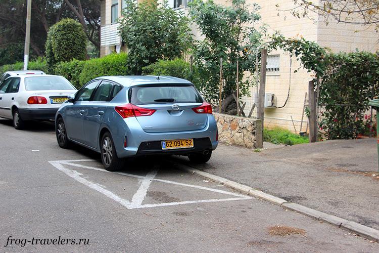 Беслатная парковка в Израиле