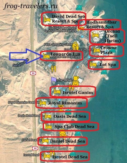 Отель Leonardo Inn на карте Израиля