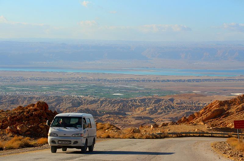 Дорога от замка Карак к Мертвому морю