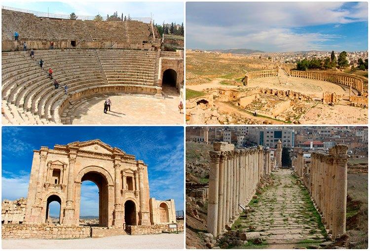 Руины римского города Джераш